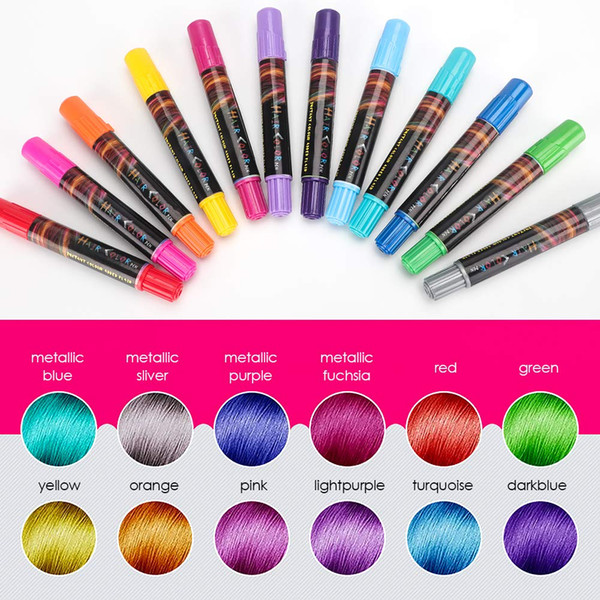 Temporary Hair Chalk Set, Colorful Hair Chalk Pens, Temporary Non Toxic  Portable Hair Coloring Chalk For Girls, Great Birthday Gift Natural  Instincts ...
