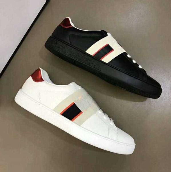 Moda Gerçek Deri Siyah Beyaz Sneakers loafer'lar Tasarımcı Lüks Erkekler Kadınlar Düşük Kesim Günlük Ayakkabılar Açık Zapatos Sürüş Ayakkabı 35-45