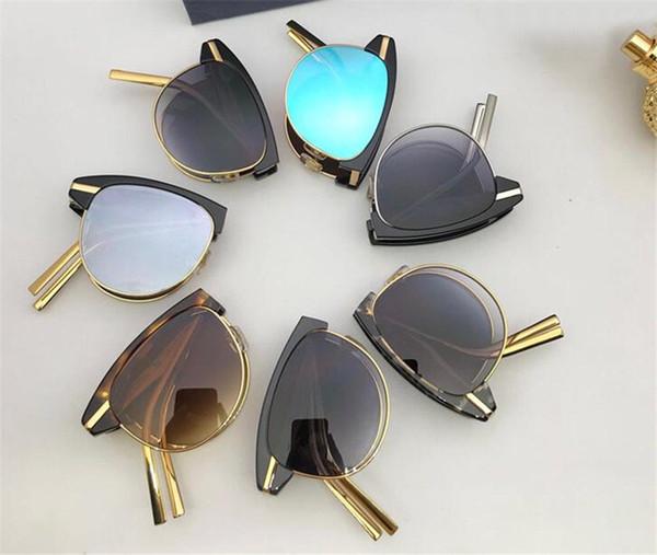 New fashion designer occhiali da sole 1075 metal cat frame fold con occhiali da vista di alta qualità popolare bestseller protezione occhiali uv 400