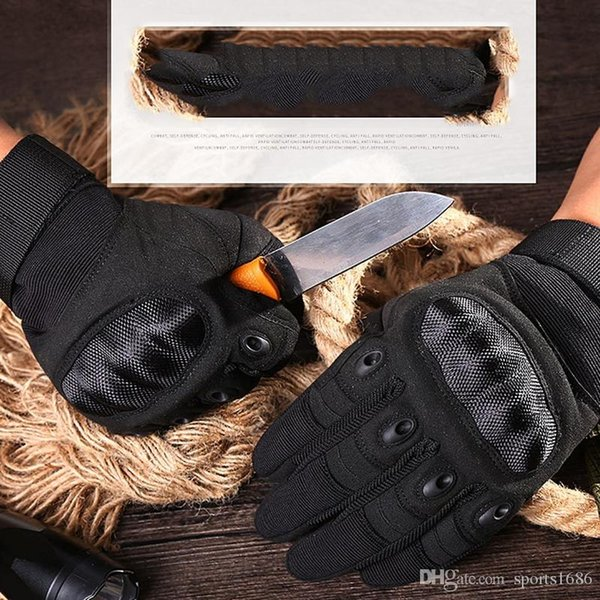 army gear tactical gloves men swat combat gloves carbon shell anti-skid airsoft paintball gloves protection antiskid ski north glove gants thumbnail