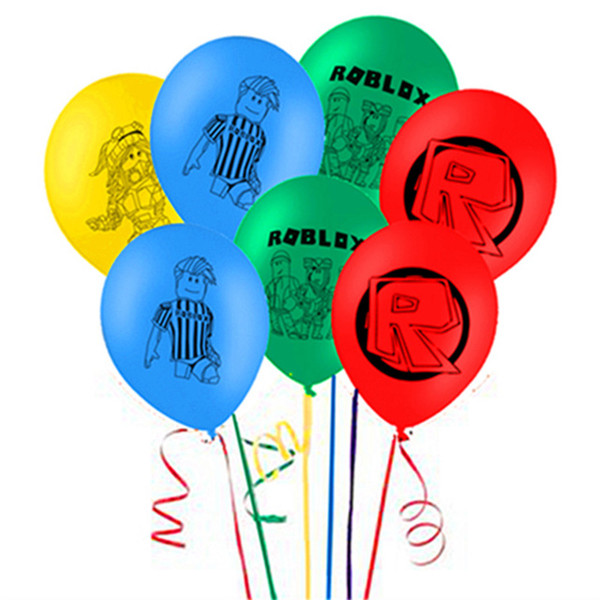 Roblox Latex Balloons Birthday Party Supplies Kids Toys Game Globos Helium Air Ballon decorations 12 inch 100pcs/lot