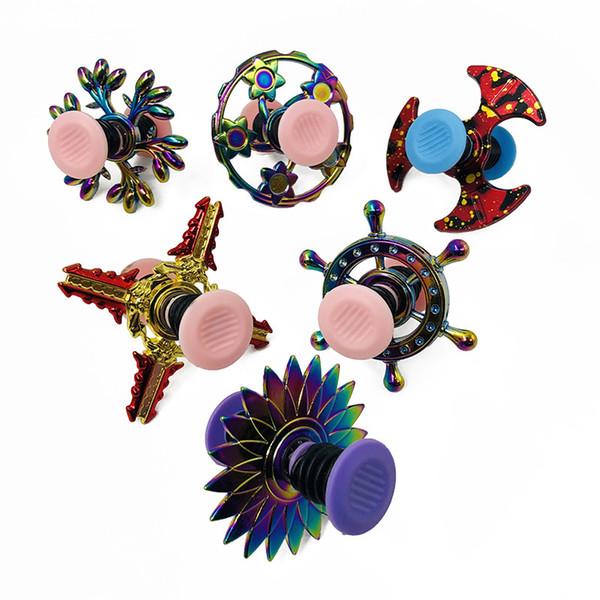2019 New Cool Spinner Toy Handspinner Gyroscope Spin Elastic Bounce Spring Finger Tip Gyro Funny Toys For Children Kids Randomly