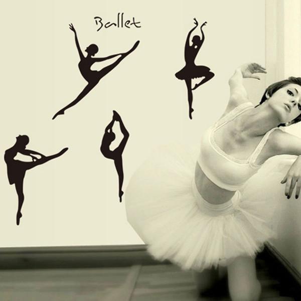 Creative Gift Ballet Dance Wall Sticker for Kids Room DIY Wall Decals/Adhesive Mural Art House Hotel Door Address Digits Sticker