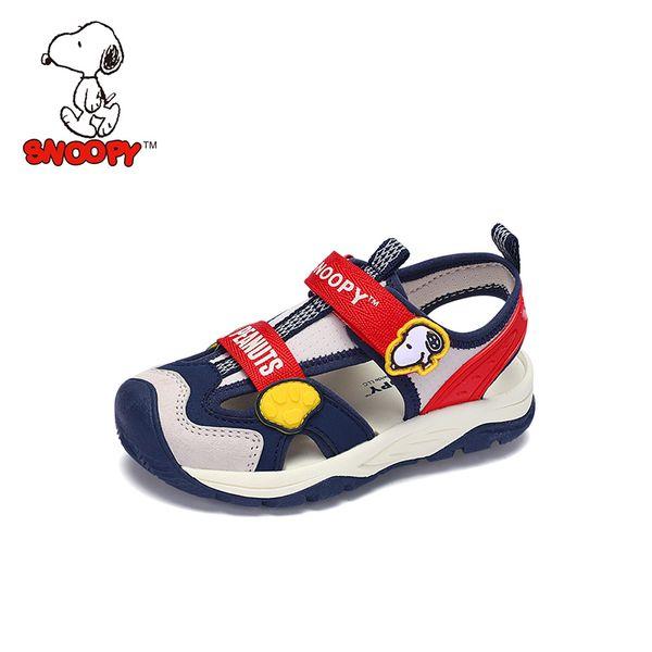 Snoopy Kinder Sandalen für Jungen PU Leder Hund Orthopädische Hookloop Schuhe Closed Toe Kinder Mädchen Sandalen