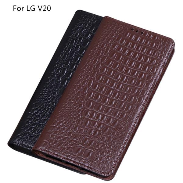 Крокодил текстура натуральная кожа флип телефон чехол для LG V20 чехол для LG V20 флип чехол с подставкой