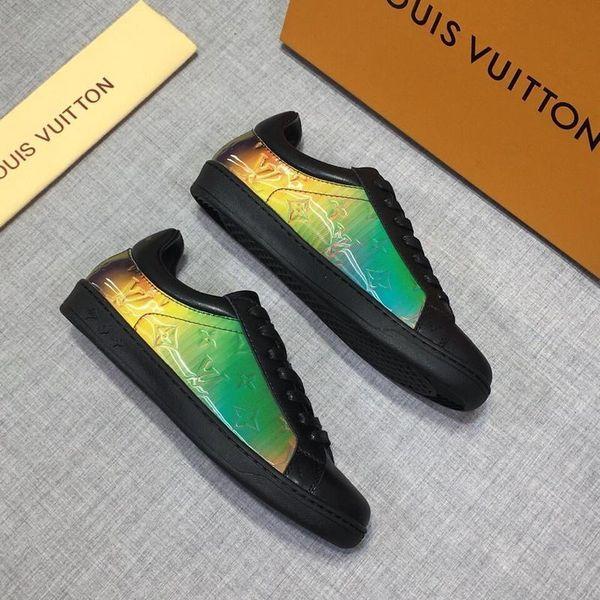 Scarpe bianche Lace Up del cuoio genuino pattini casuali degli uomini donne scarpe da tennis piane con la scatola delle scarpe da tennis scarpe da sera in vendita