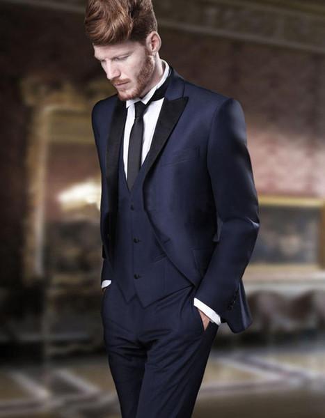 Custom Made smoking abiti da sposa sposo abiti da uomo mens smoking di cerimonia nuziale costumi de fumo pour hommes uomini (Jacket + Pants + Tie + Vest) B65