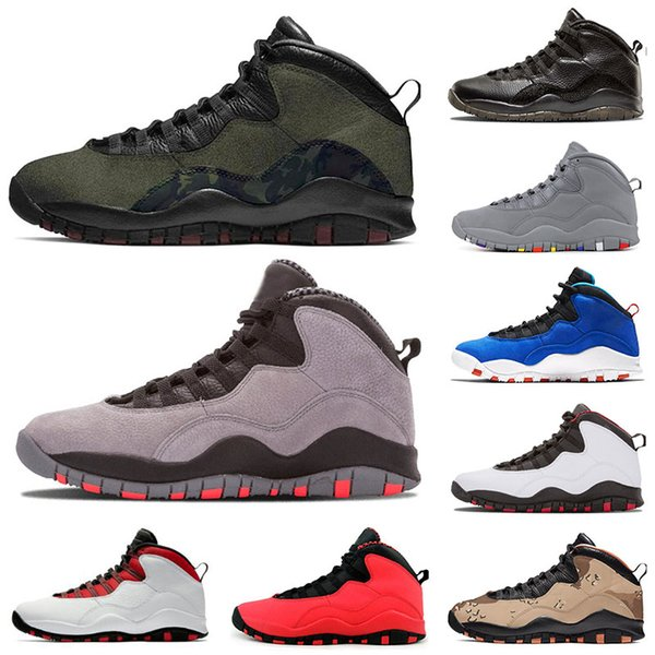 Hot sale Jumpman 10 Desert Camo Tinker Woodland Camo mens basketball shoes 10s GS Fusion Red Powder Blue Stealth men trainers designer shoes