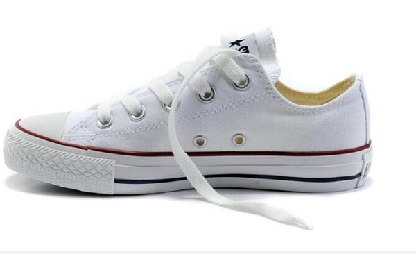 ¡Precio promocional de precio de venta-fábrica! Zapatillas de lona femeninas para mujeres y hombres, zapatos de lona clásicos de estilo alto / bajo Zapatillas de lona
