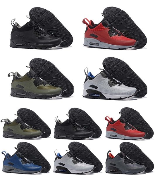 2019 New 90 Trainer Shoes Classic Men Women Cheap 90 Shoes Black Red White Air Cushion Designer Air90 Sneakers