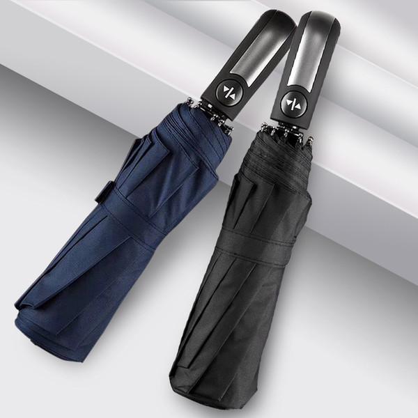 Parapluie automatique pour augmenter la pluie de renforcement et la pluie Parapluie à double usage Business Publicité cadeau parapluie Vêtements de pluie