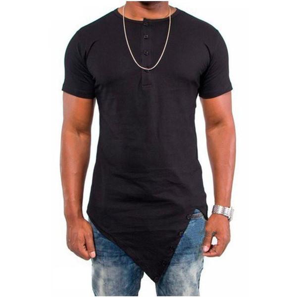T-shirt populaire hommes irréguliers à manches courtes hommes de danse de rue hip-hop Blast