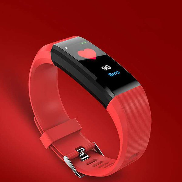 Original 115 PULS Smart Watch bracelet heart rate monitor motion tracker smart bracelet display PK i10 tws I 10 i10tws DZ09