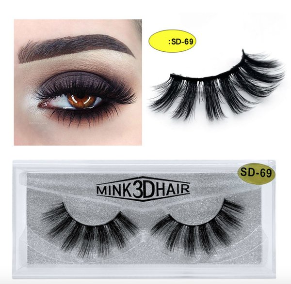 top popular 20 style 3d Mink Hair Fake Eyelash 100% Thick real mink HAIR false eyelashes natural Extension fake Eyelashes DHL free shipping 2019