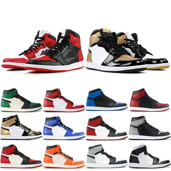 Classic 1 OG Mens Basketball Shoes Shattered Backboard Away Laser Chicago Banned Hare Designer Athletics Sneakers Size 40-47