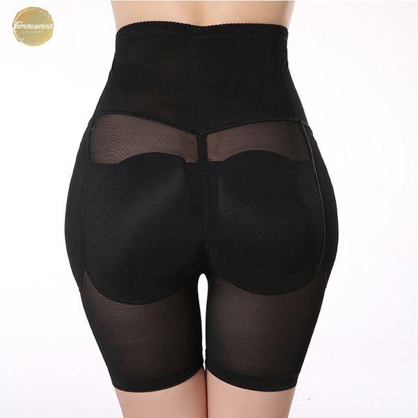 Брюки управления Butt Lifter Hip Up проложенные управления Трусы Подъемное Женщины профилировщика тела приклада Enchancer похудения Shaperwear