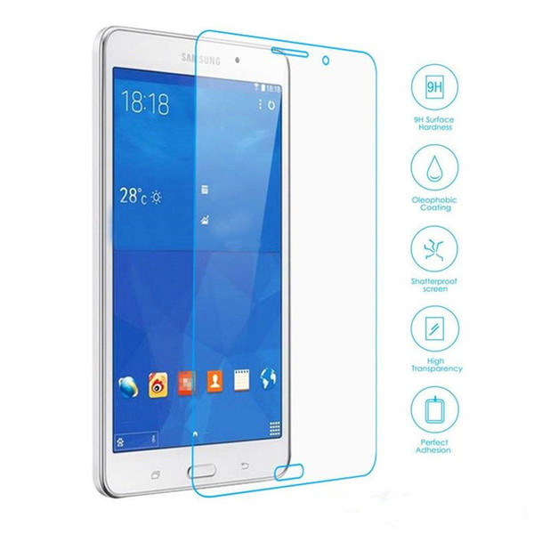 50PCS Explosion Proof 9H 0.3mm Screen Protector Tempered Glass for Samsung Galaxy Tab 4 7.0 T230 T231 T235 No Package
