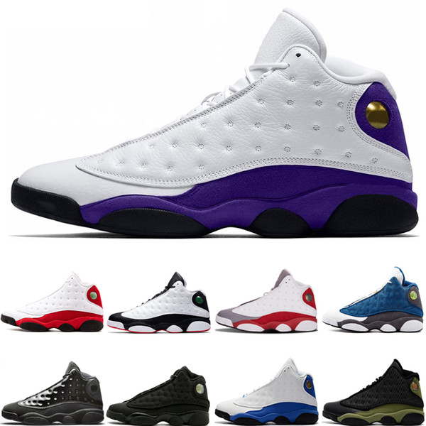 13 13s New Lakers Rivals Designer basketball shoes Cap And Gown Chicago Hyper Royal Black Cat Flints Bred DMP Mens Sport Sneakers 40-47