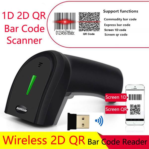 Symcode Kablosuz 2D Barkod Okuyucu Bilgisayar Mobil Ödeme Ekranı 1D QR barkod Tarayıcı