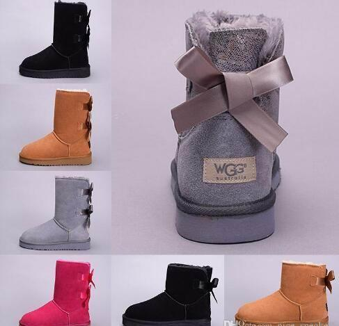 winter Australia Classic snow Boots High Quality tall boots real leather Bailey Bowknot women's bailey bow Knee Boots shoes