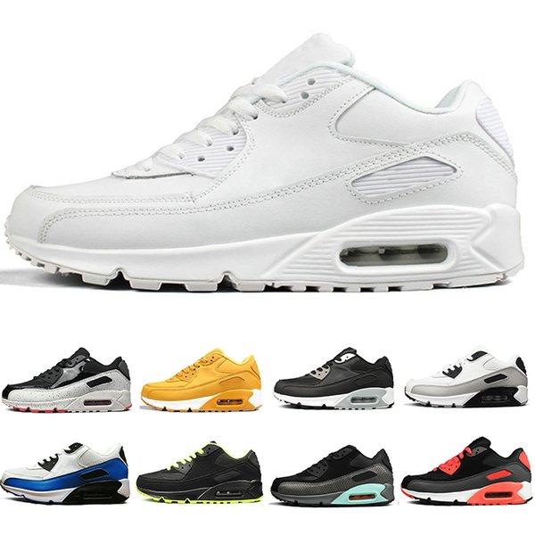 Wholesale New 90 Running Shoes For Men Women Triple Black White Red jogging Outdoor 90s Mens Trainers Designer Sports Sneakers US 5-11