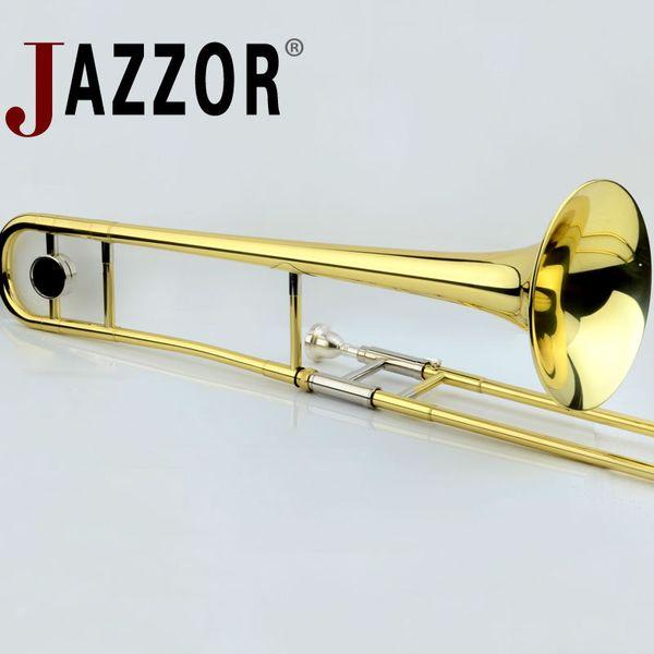 JAZZOR professionnel JBSL-a700 Alto Trombone B or plat laque Instruments de musique trombone en laiton avec embouchure de trombone