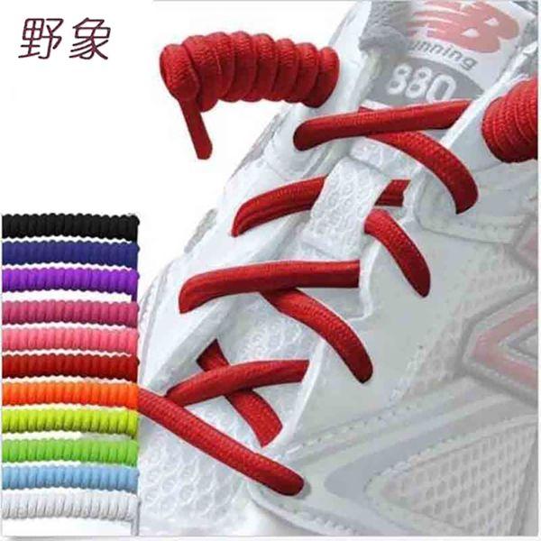High elastic lazy shoelaces no tie shoelaces silicone solid shoe lacing for women children men sneaker rubber