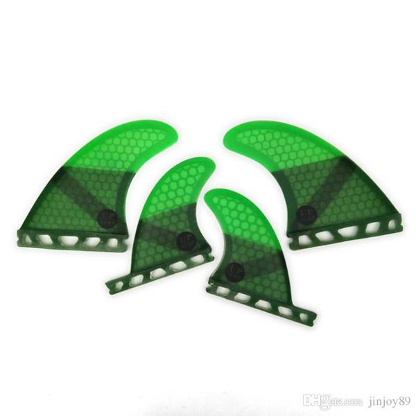 Последние горячие продажи доски для серфинга аксессуары ласты зеленый серфинг доска для серфинга Quad ласты BGR Honeycomb Fin стекловолокна Surf Quad Fin руль