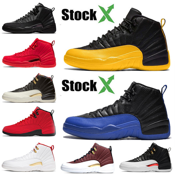 2020 new arrival sport brand jumpman 12 12s basketball shoes air jordan retro university gold game royal black luxury sneakers 7-13, White;red