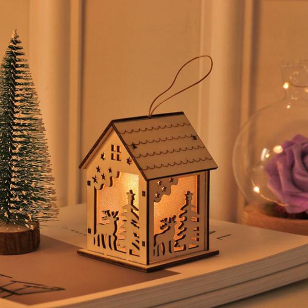 Aydınlatma kolye Parti Odası Dekorasyon Seti LED Yeni Noel Log Cabin Küçük Güzel Özel Olabilir