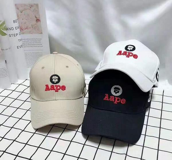 Gorras de diseño de lujo de moda de marca aape Hip Hip Snapback Sombreros Hombres Gorra de béisbol de algodón Mujeres Gorra de pico al aire libre Gorras de casquette deportivas