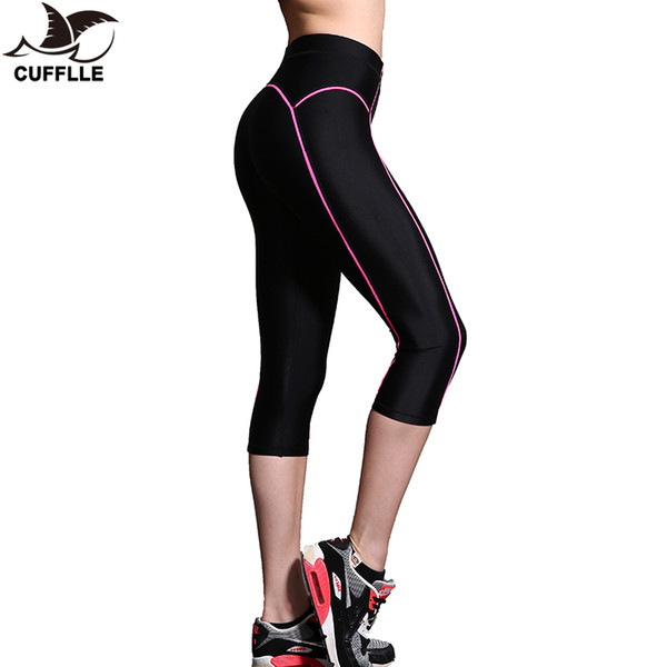 CUFFLLE Yoga Leggings Women High Elasticity Sports Cropped Pants Quick Dry Gym Running Capris Fitness Yoga Female Tights