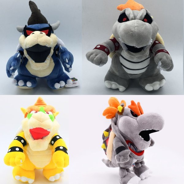 4 styles Super Mario Bowser Plush Stuffed Toy Bowser Super Mario plush toys darkness Koopa Bowser dragon darkness plush doll