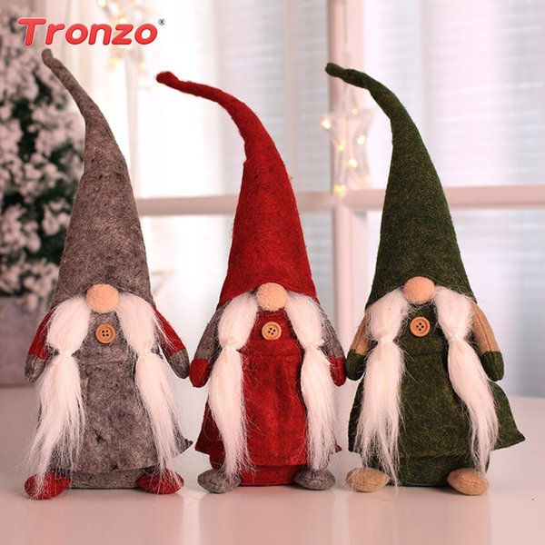 Tronzo Christmas Santa Claus Doll Toy Christmas Decorations For Home Party Kids Favors Ornaments New Year Xmas Decor