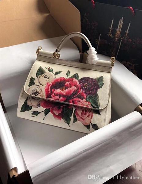 2019 All cor Mais cor pode escolher o estilo Sicília cores de impressão Mulheres de couro bolsa de ombro único Tote mensageiro camada superior do couro