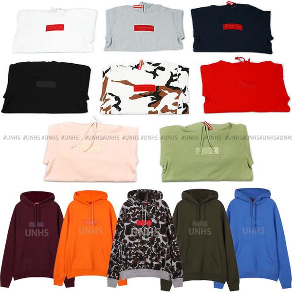 Vente chaude UNHS TOP nouveau classique unionhouse boîte logo hoodie broderie lettre marka Fleece Automne Hiver Manteau 16 couleurs