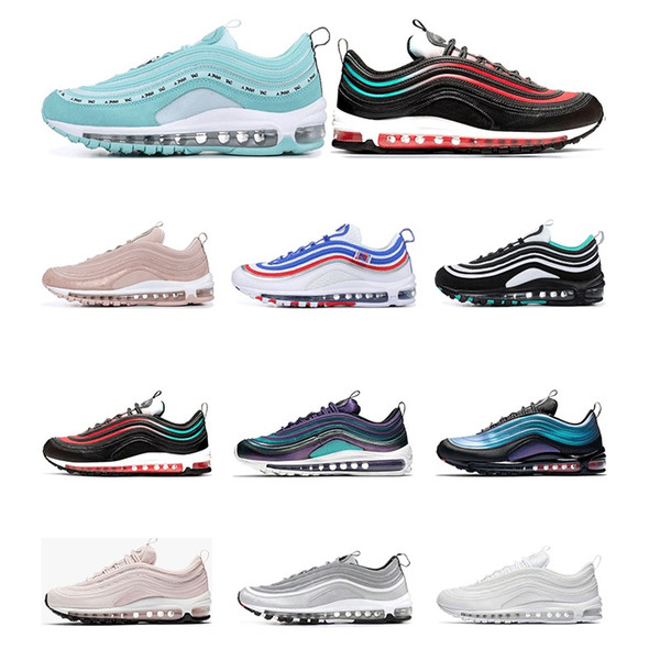 Wholesale Running Shoes Sliver Bullet South Beach Barely Rose Triple White Black Have a day Men women Trainer Sports Sneaker Size 36-46