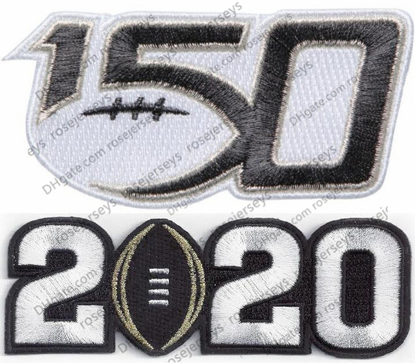 2020 white number & 150TH Patches