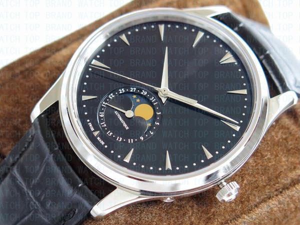 BRW роскошные часы завод фазы Луны 1368470 автоматический cal.925 (9015) механизм часы мужские наручные часы Сапфир 39мм гарантия 1 год