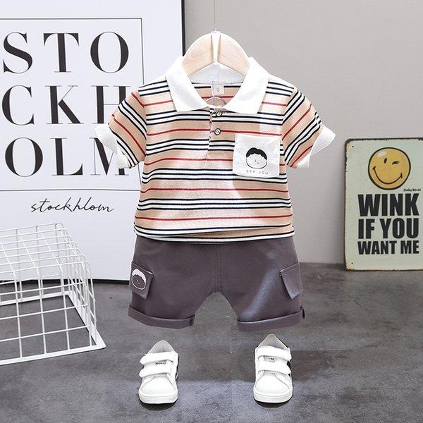 Khaki Kl Little Boy Short Sleeve