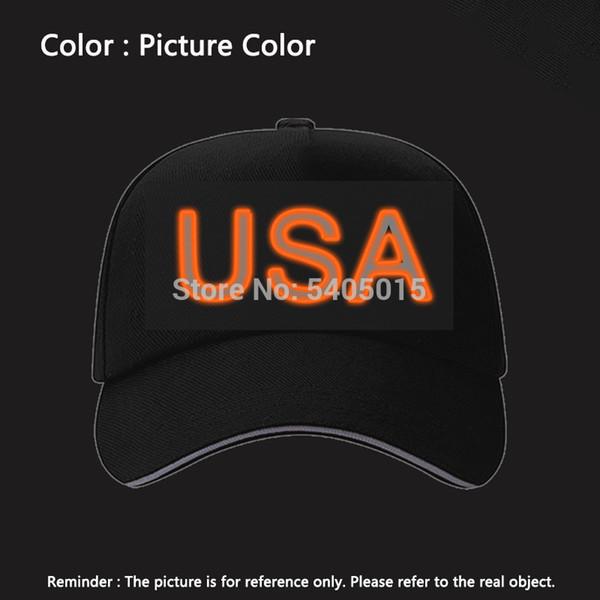 EL Chapeau Hip hop Caps Nouveauté Eclairage Lumineux vacances DIY Décoration Party Hat Party Supplies Glow