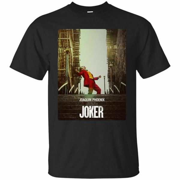 Joaquin Phoenix Joker 2019 T-shirt preto de manga curta S-3XL New engraçado camiseta
