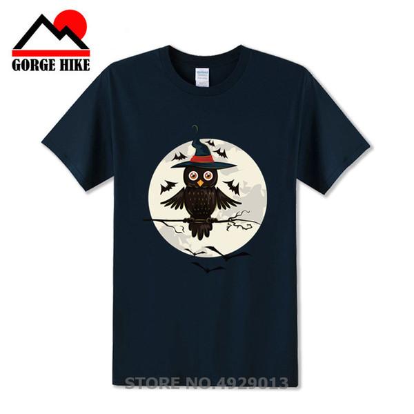 Camiseta de Halloween Regalo Griego Parodia búho Camiseta de mago chicos jóvenes Hombre cómico Diseño creativo de manga corta Camiseta del Día de Todos los Santos