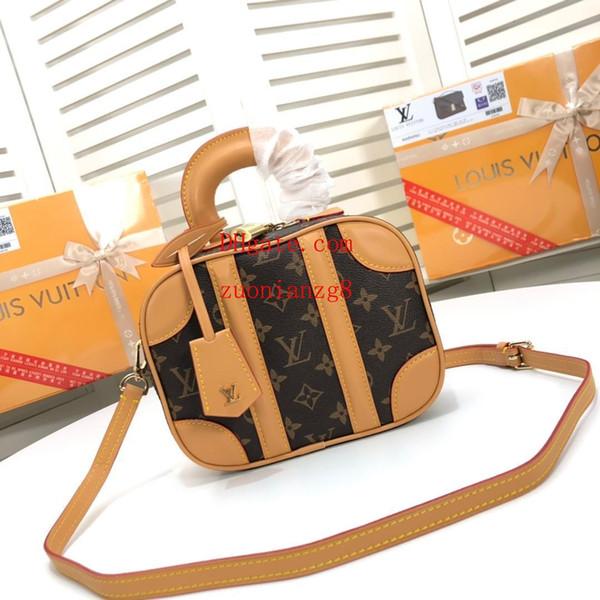 Borsa di moda di marca di alta qualità Classico Pelle bovina monogram canvas splice bag crossbody bag borsa a tracolla borse borse donna QW-14