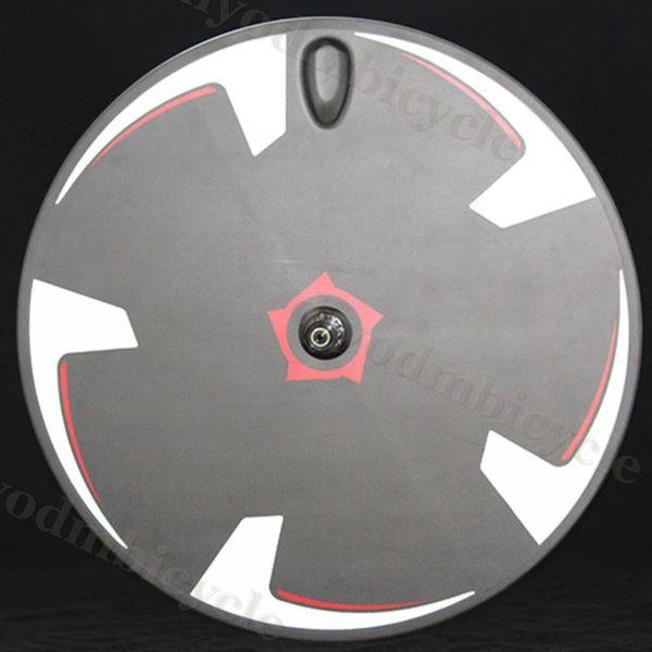 Fixed Gear Single Track Bike Ruote Strada-Disc-Wheel copertoncino 700C full-carbon-fibra Popolare 3K UD Strada-Disc-Wheels