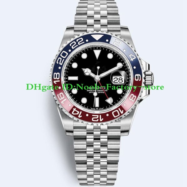 2018 Basel World Luxury Neues GMT II Automatikwerk Edelstahl Tauchbasis Basel 40MM 116710 116710BLNR 126715CHNR Herrenuhr Uhren