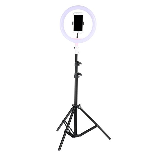 """Tycipy Phone Ring Light For iPhone X 8 7 6 Plus 10""""/26cm Dimmable LED Ringlight With Tripod Stand For Makeup Photography Selfie"""
