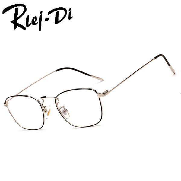 FA226 Titanium Alloy Glasses Frame Men Semi Rimless Square Eye Glass Prescription Eyeglasses Myopia Optical Frames