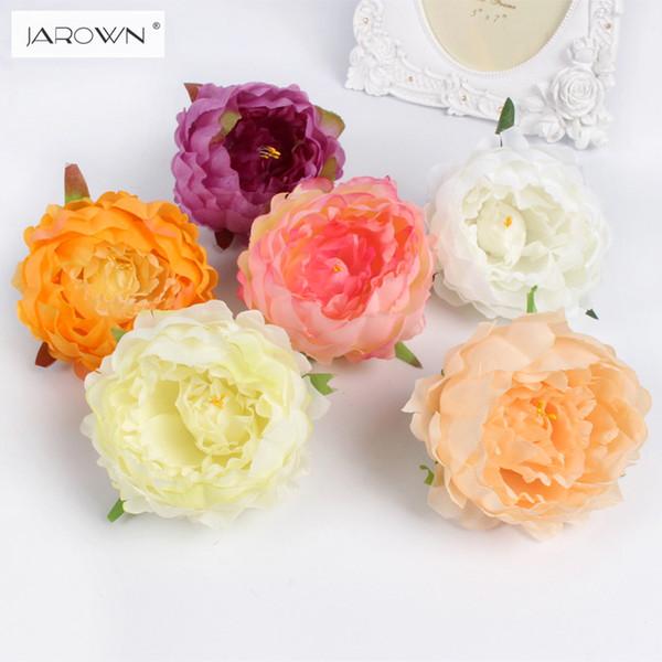 свадебные украшения DIY искусственный пион цветочные головки многоцветный дорожный ведущий свадебный цветок букет отель фон декора стен