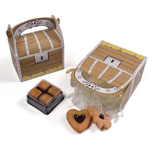Creativo portatile favore di cartone Treasure Box Confezioni Regalo festa di nozze Candy caramelle Scatole con manico